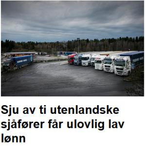 Sju av ti utenlandske får ulovlig lav lønn